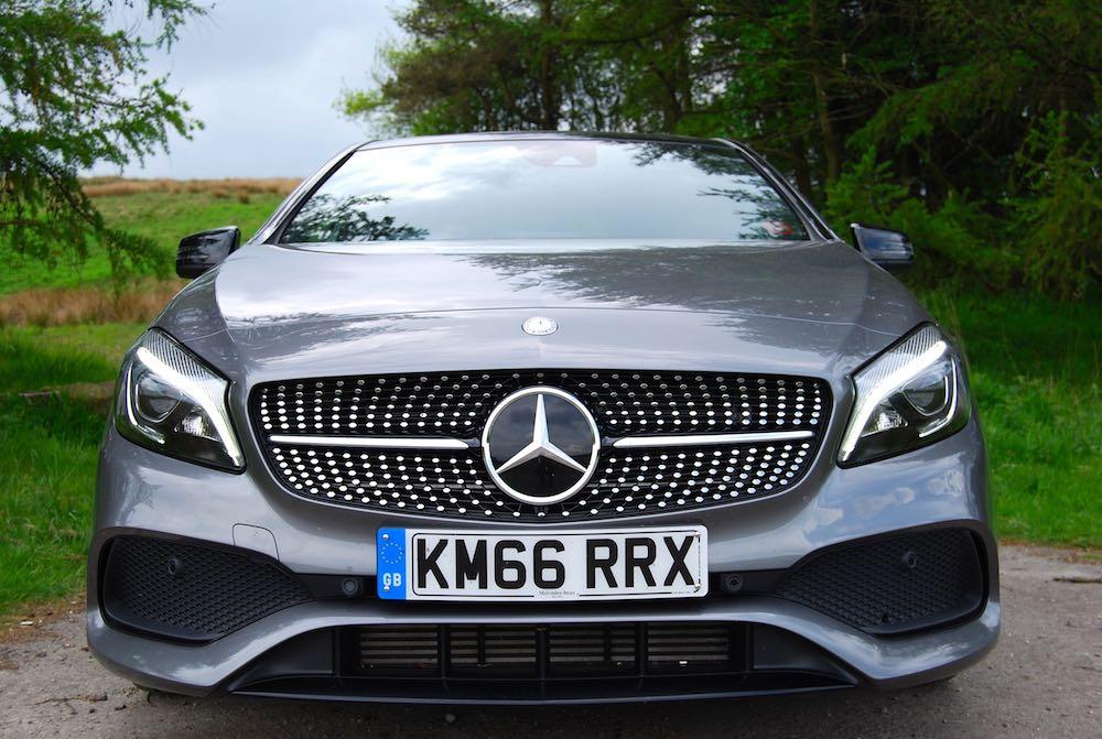 Mercedes A 220 d front grey