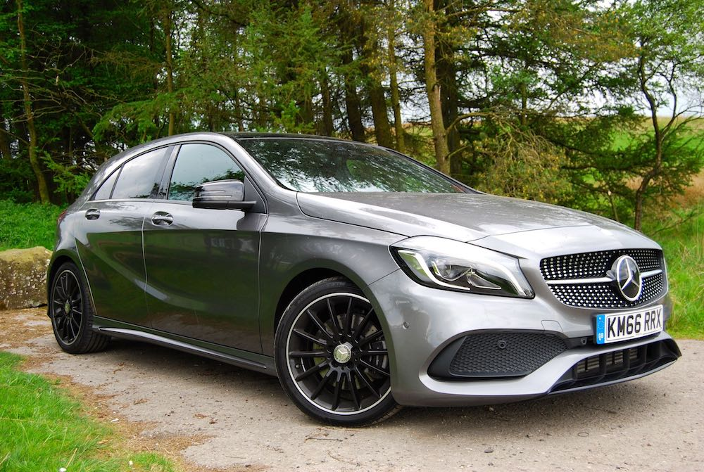 Mercedes A 220 d front side grey