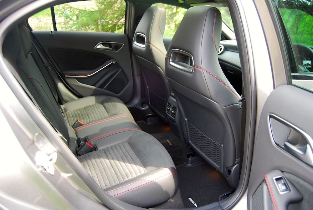 Mercedes A 220 rear seats