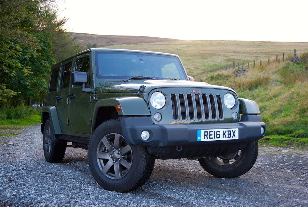 Jeep Wrangler 75th green front side