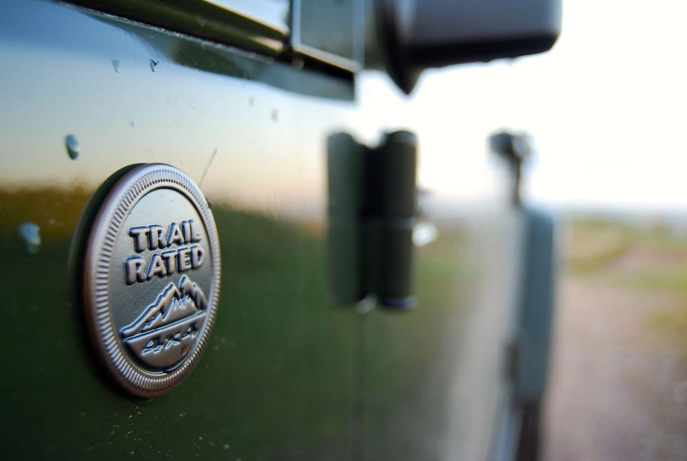 Jeep Wrangler 75th trail rated badge