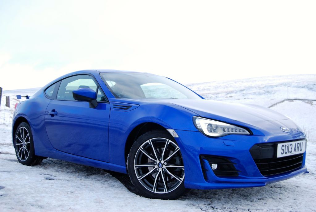 subaru brz blue 2017 front side