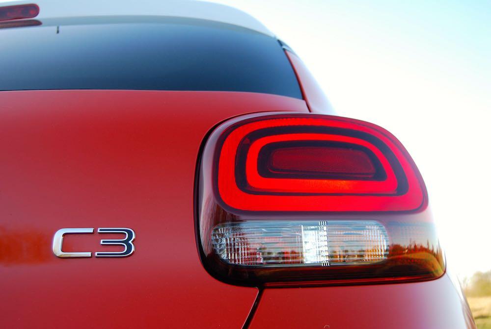 Citroen C3 rear light