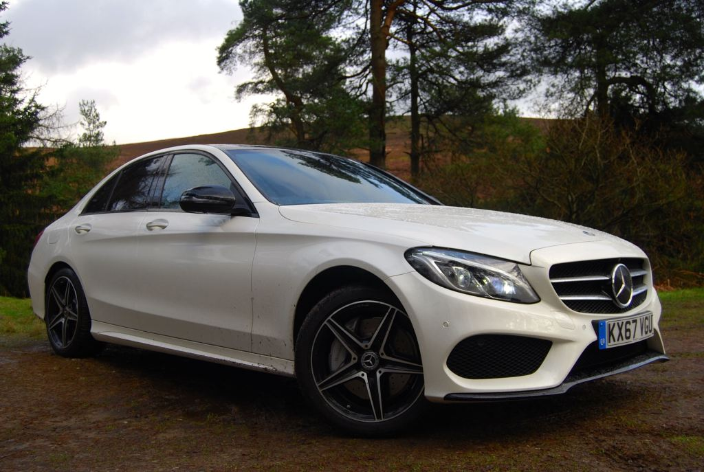 Mercedes c-class white front side