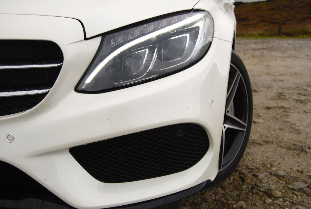 mercedes c-class white air intake grille