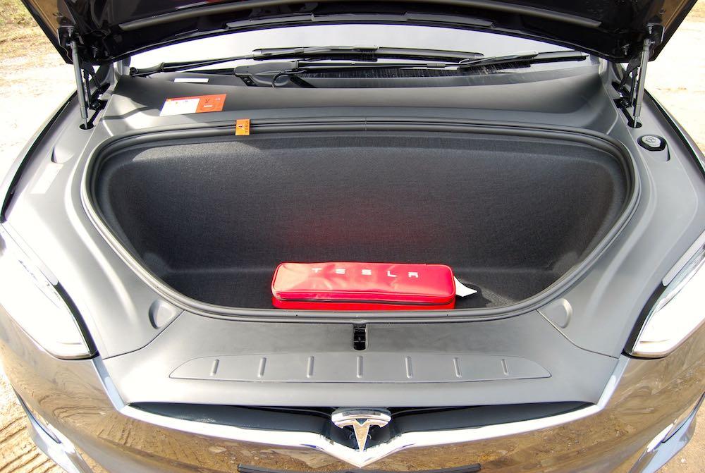 Tesla Model X front boot trunk