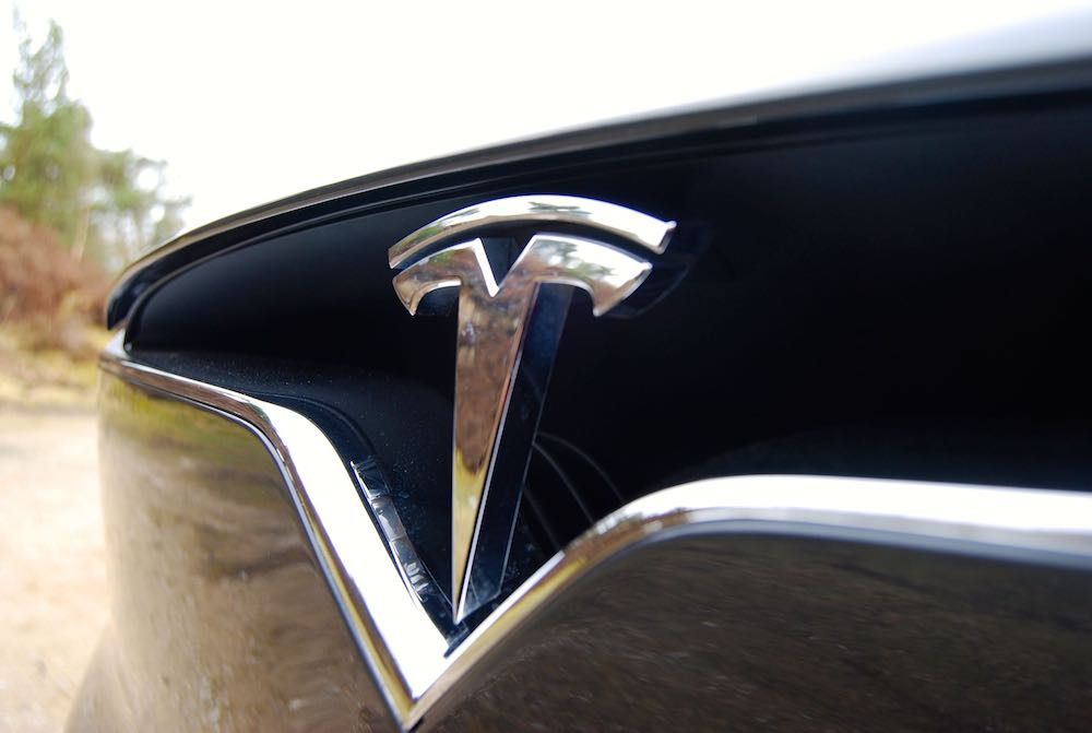 Tesla Model X nose badge