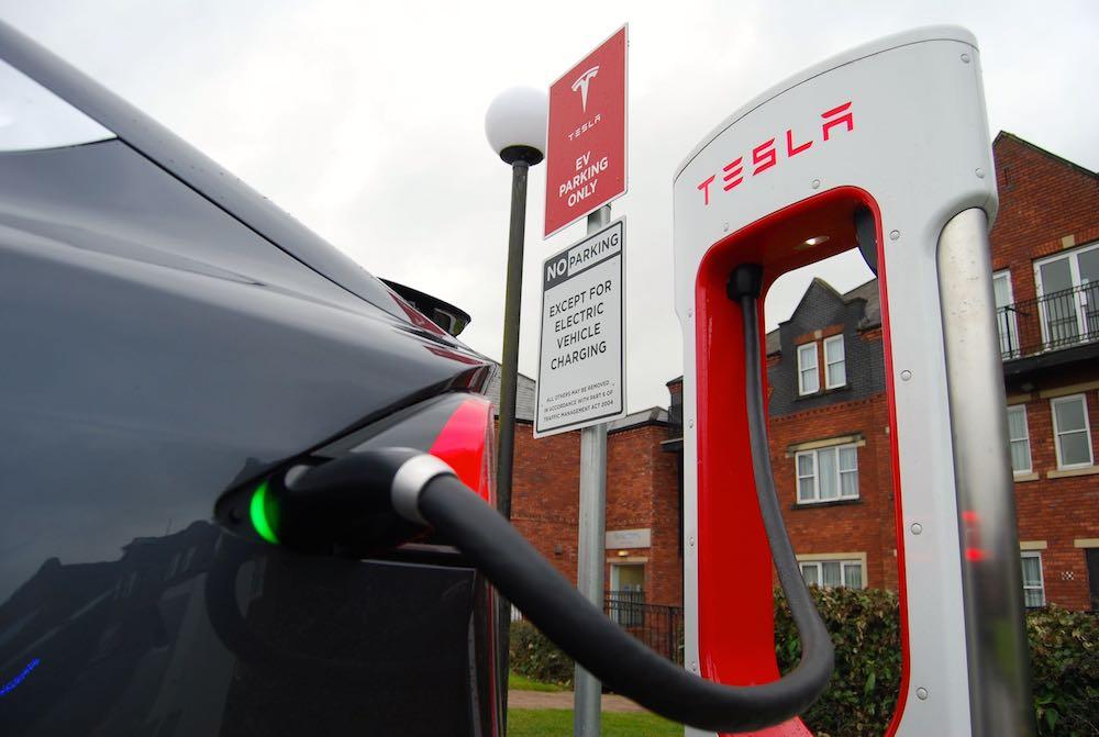 Tesla Model X super charging