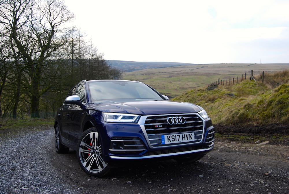 audi sq5 front side blue