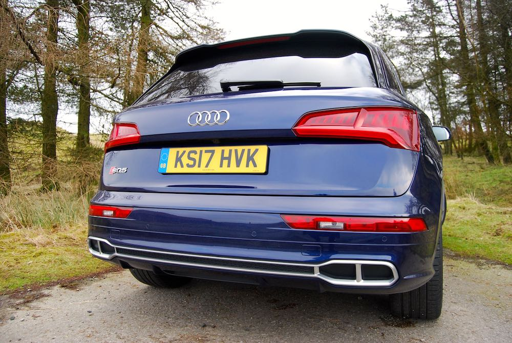 audi sq5 rear blue