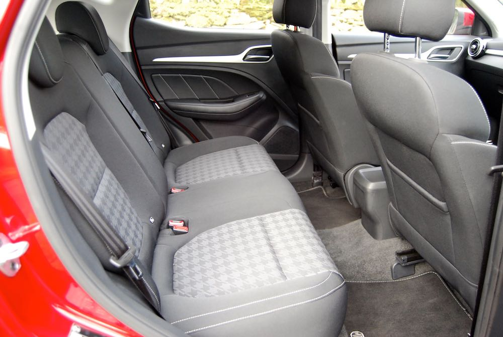 mg zs rear seats