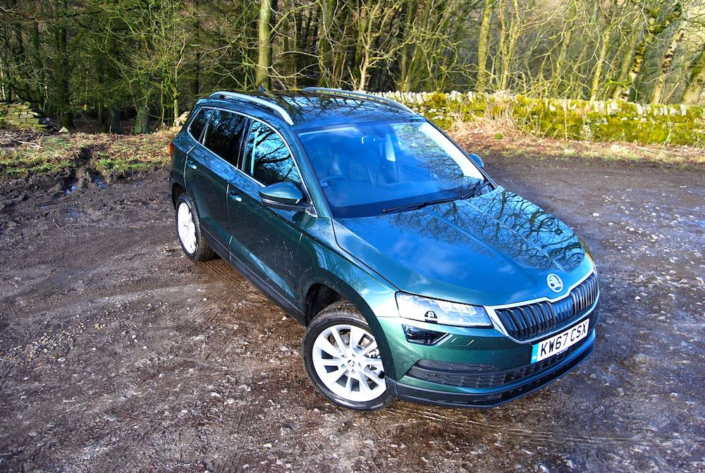 skoda karoq green high front
