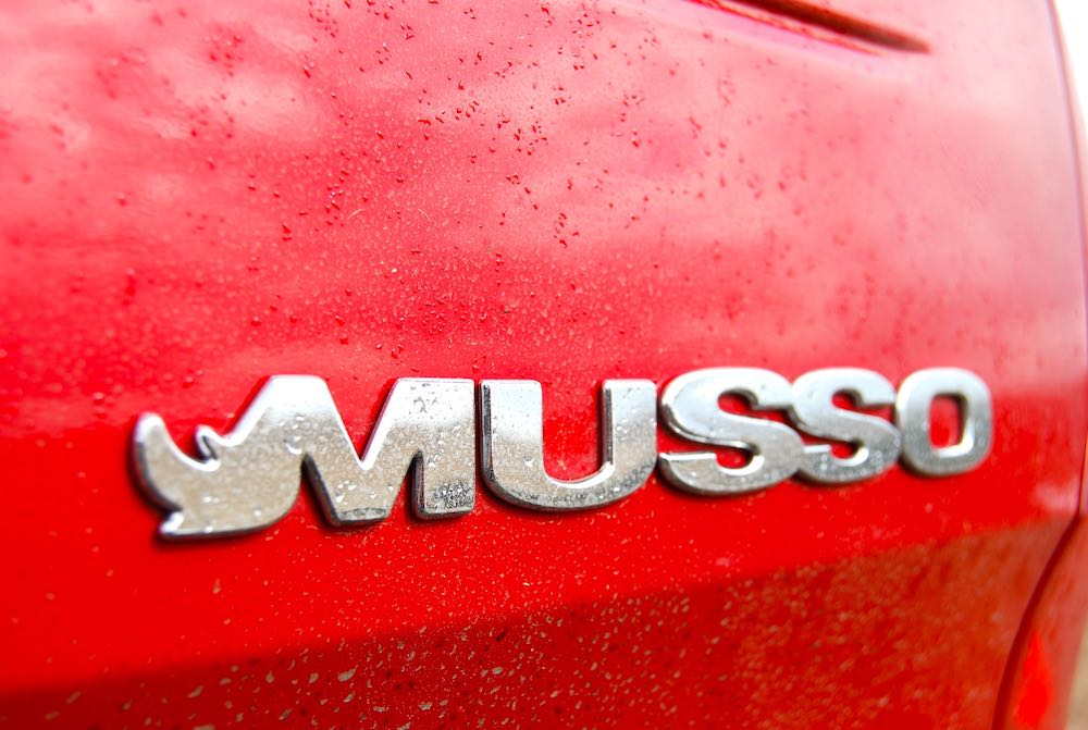 ssangyong musso badge