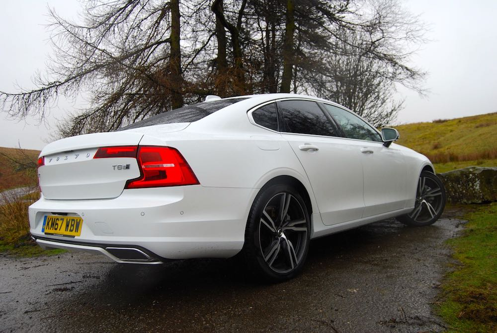 volvo s90 t8 rear side white