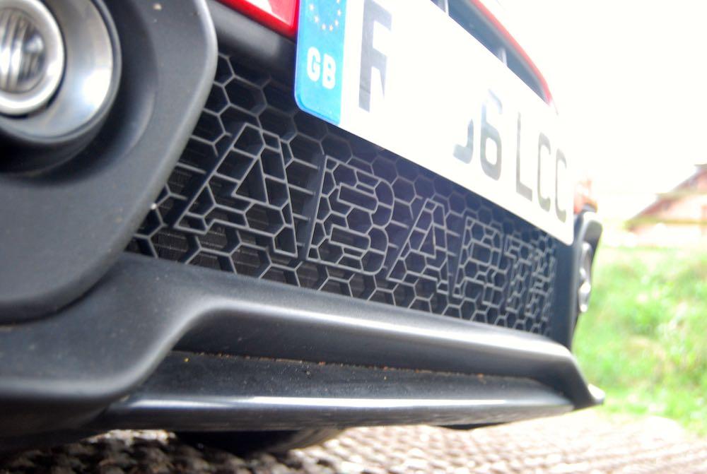 abarth 595 competizione grille letters