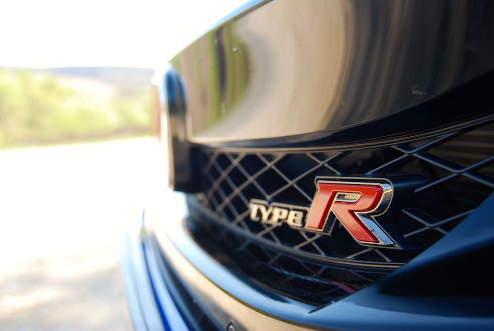 civic type r badge blue