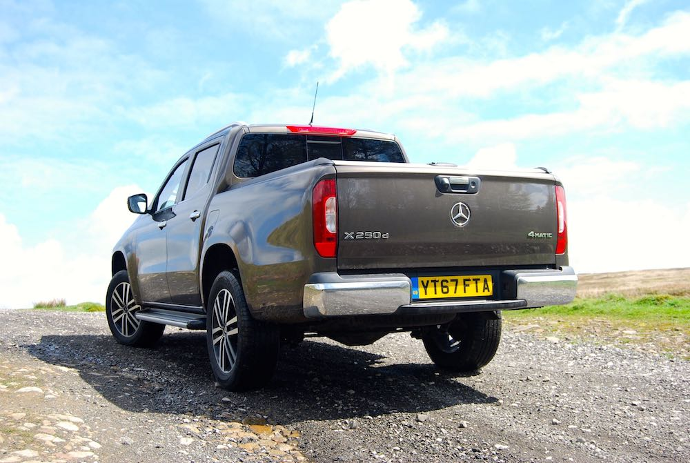 mercedes x-class rear bronze off road