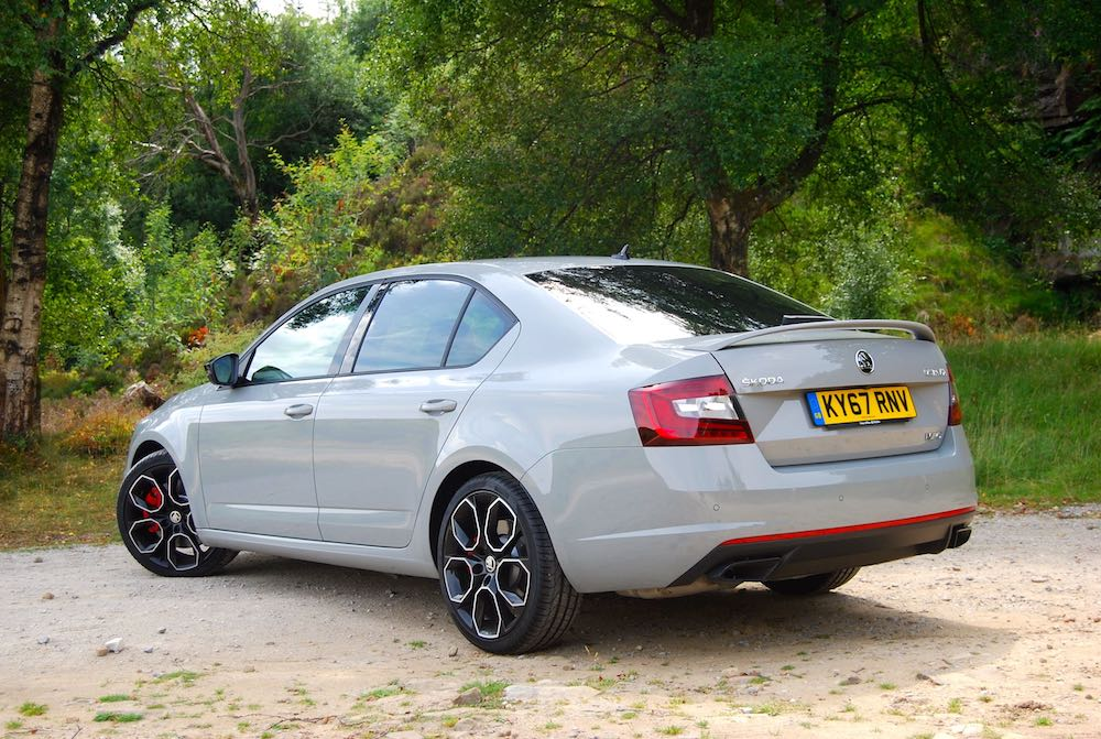 Skoda Octavia vRS 245 grey rear side