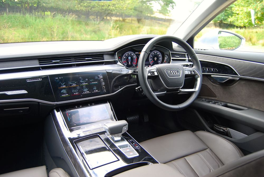 audi a8 review interior cabin