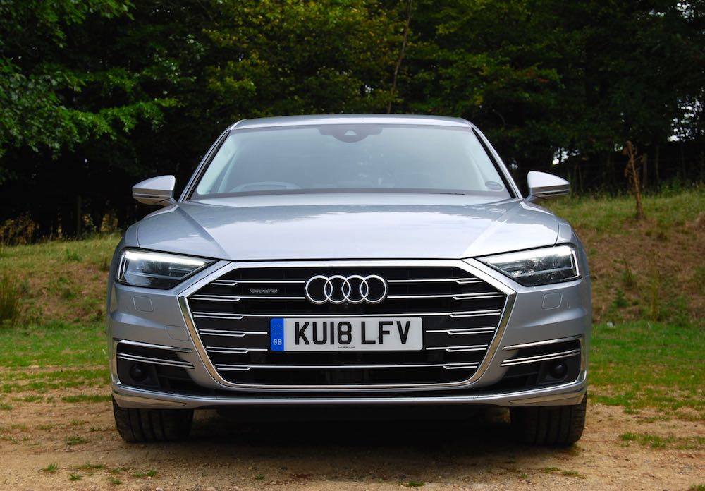 audi a8 review silver front