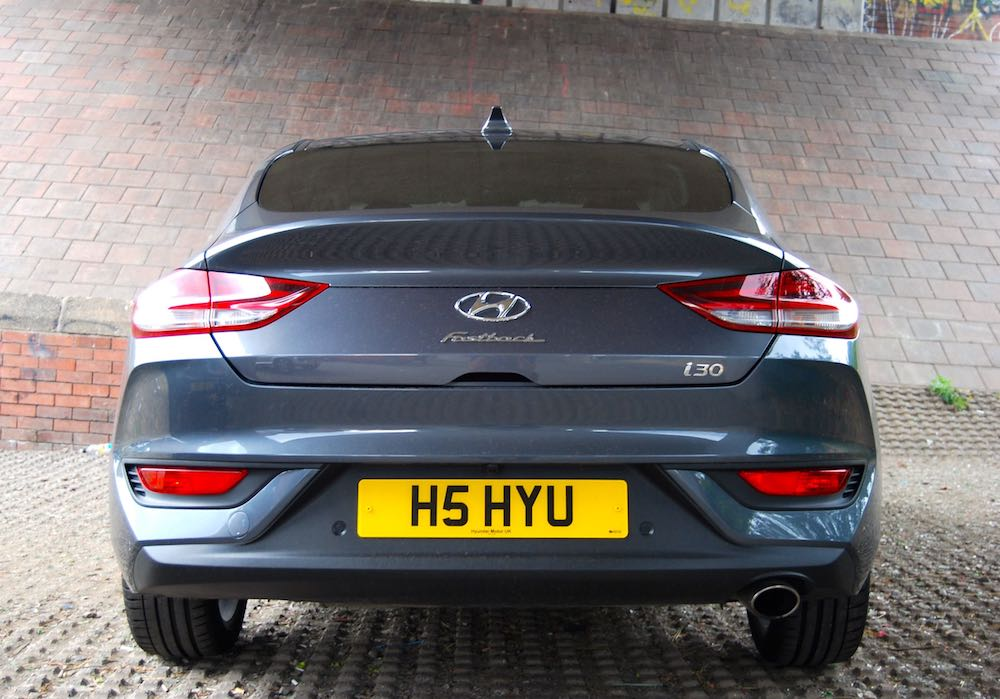 hyundai i30 fastback rear grey review