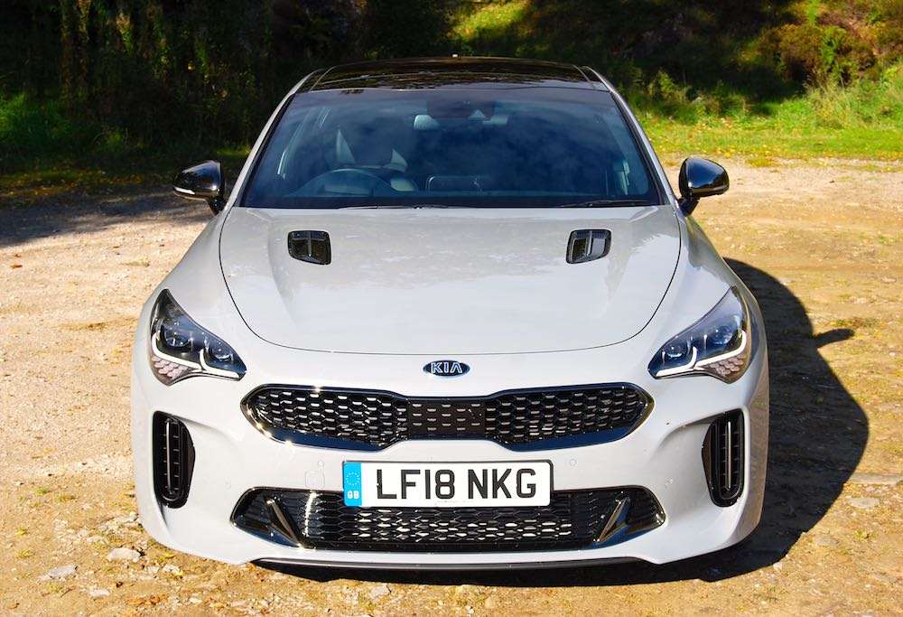 kia stinger gt grey front review roadtest