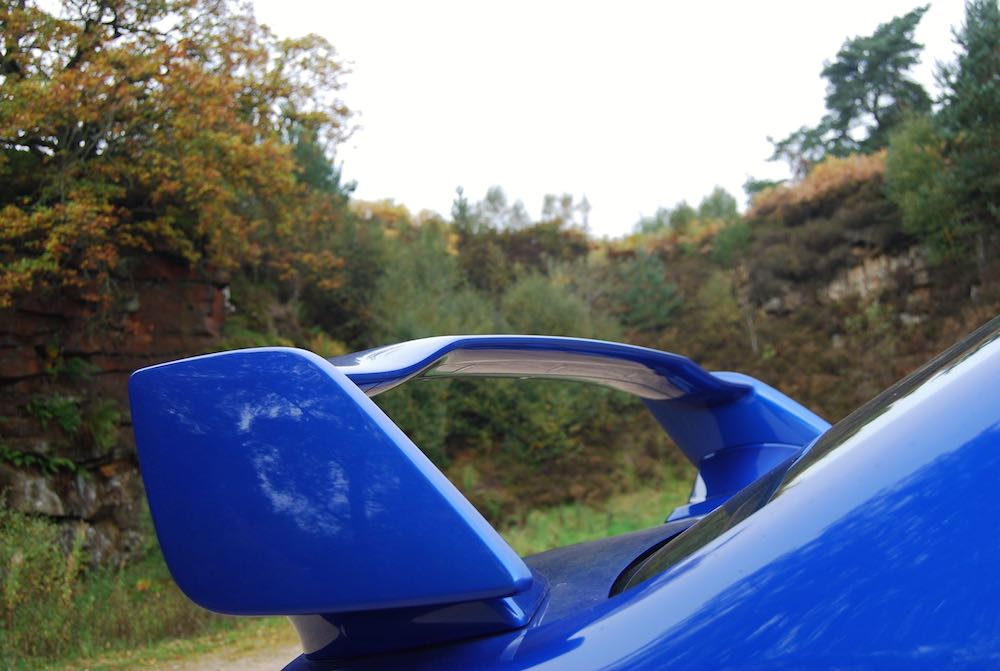 subaru wrx sti final edition blue boot spoiler review