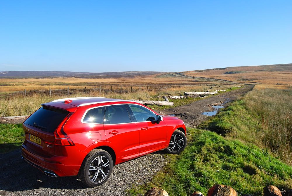 volvo xc60 red rear side review roadtest