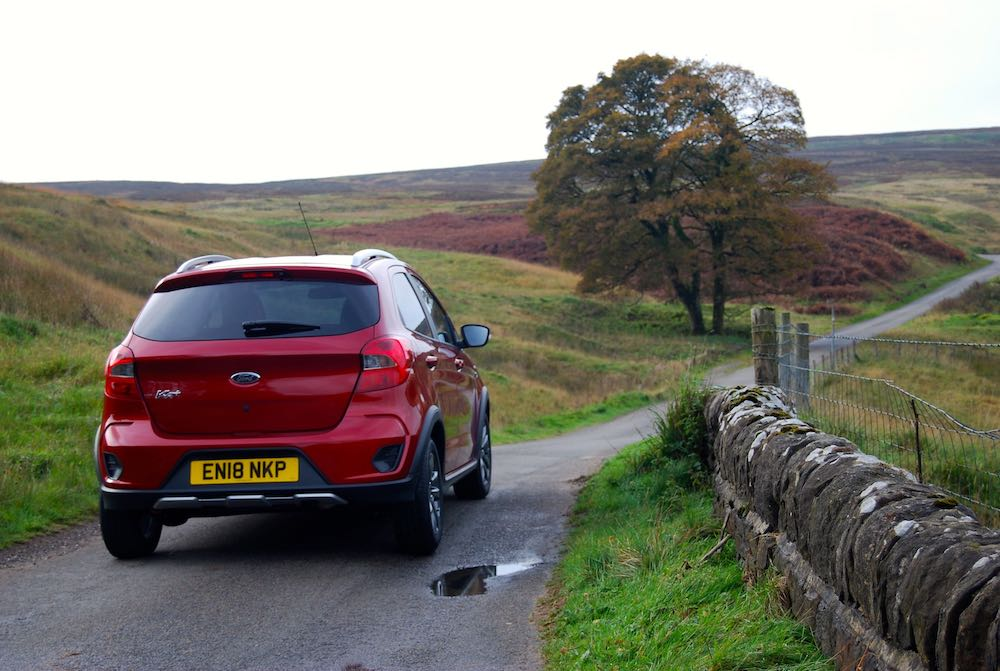 ford ka+ active rear red review roadtest
