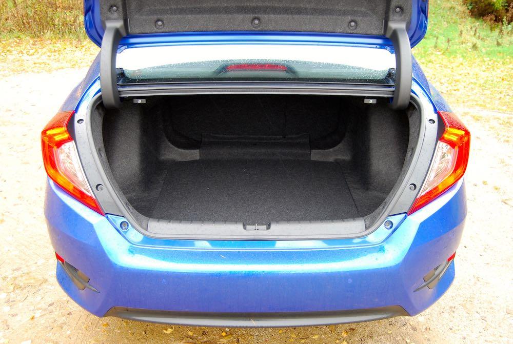 honda civic 4 door blue boot trunk review roadtest