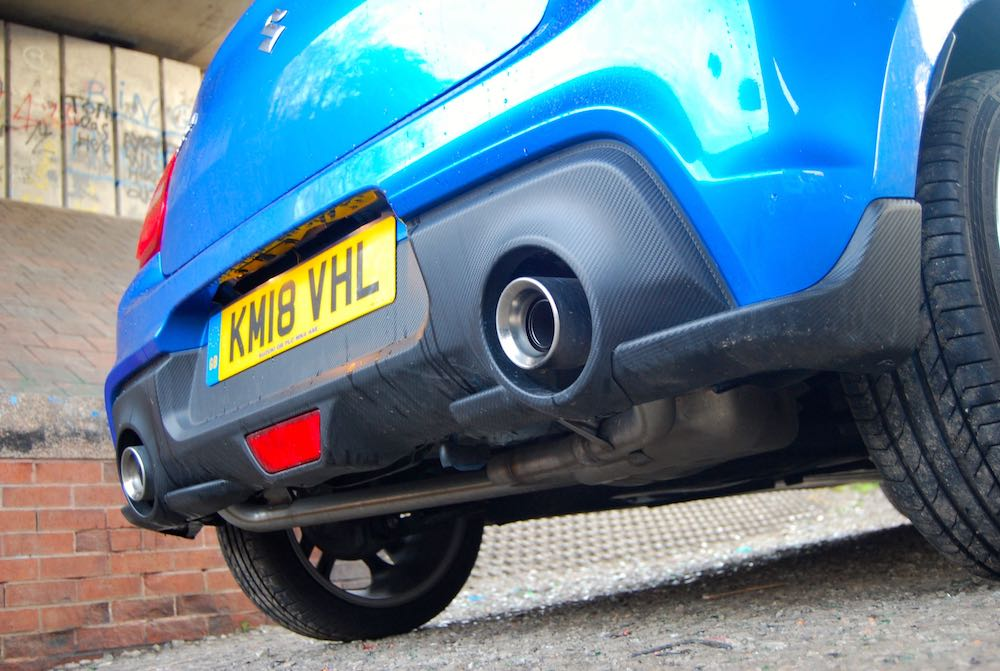 suzuki swift sport 2018 exhaust carbon review roadtest