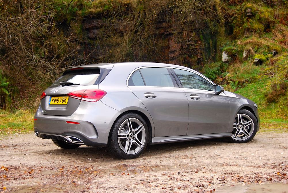 2019 mercedes benz a class review roadtest side rear grey