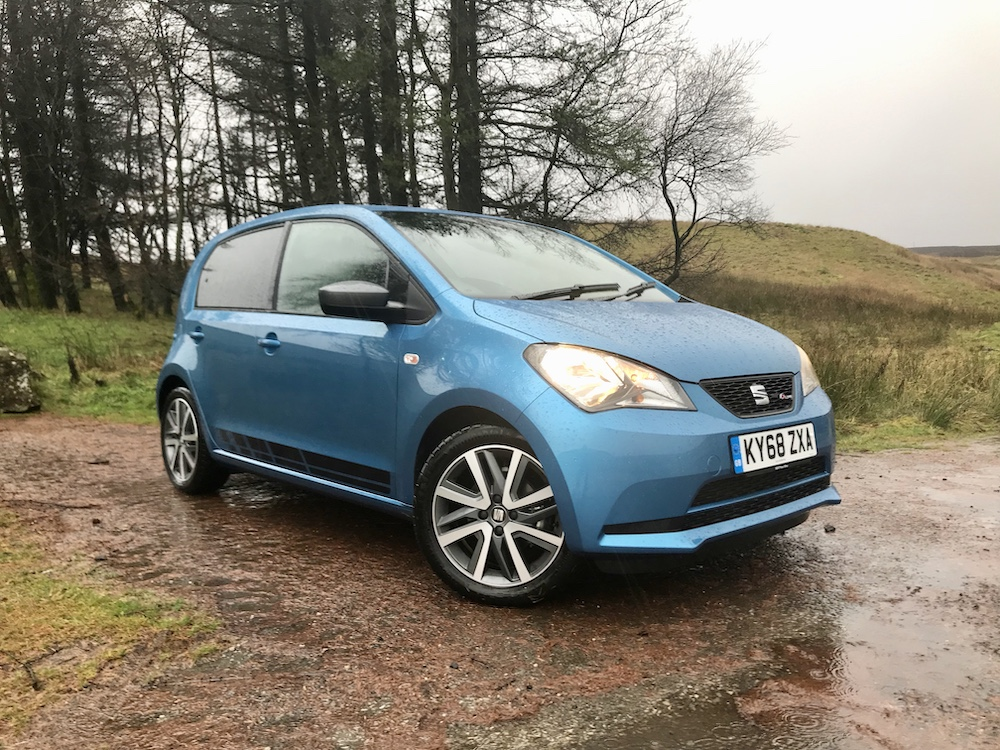 Seat Mii Fr line blue front side review road test