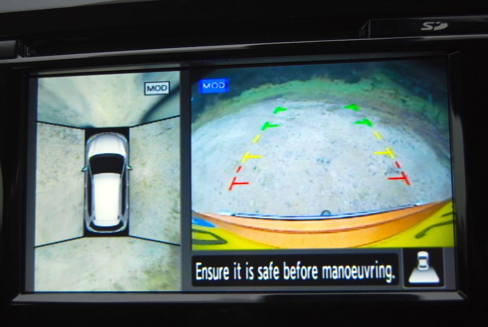 Nissan X-Trail birds eye camera review roadtest