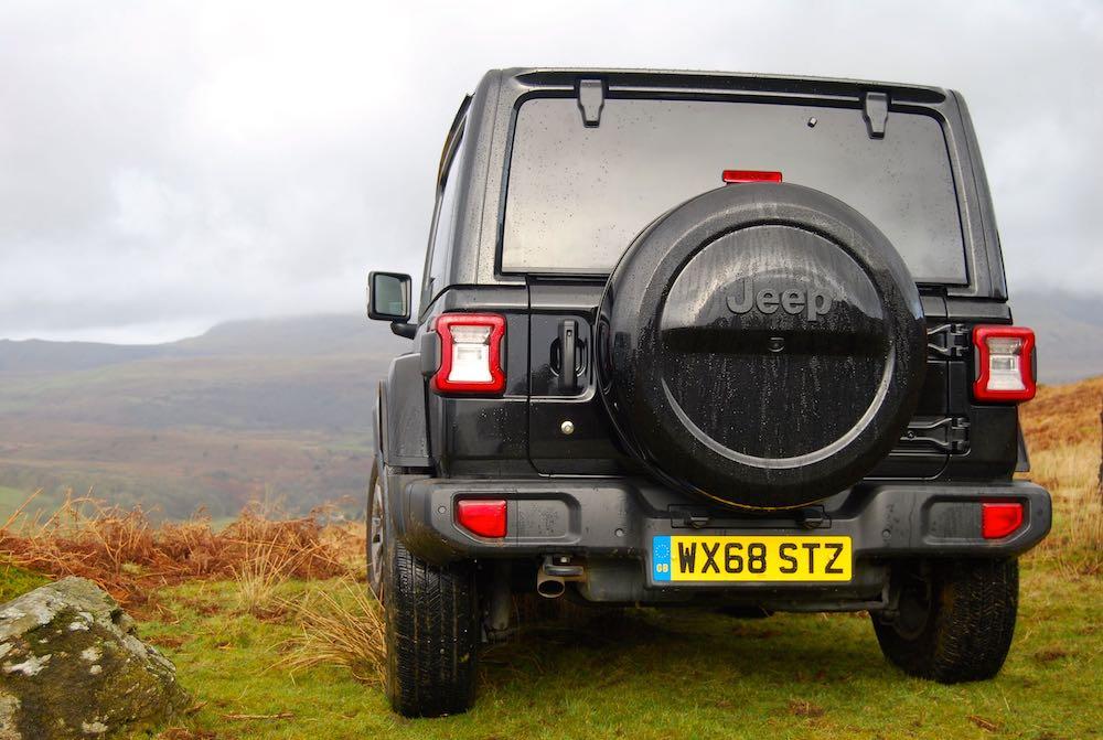 2019 jeep wrangler jl overland 2 door black rear