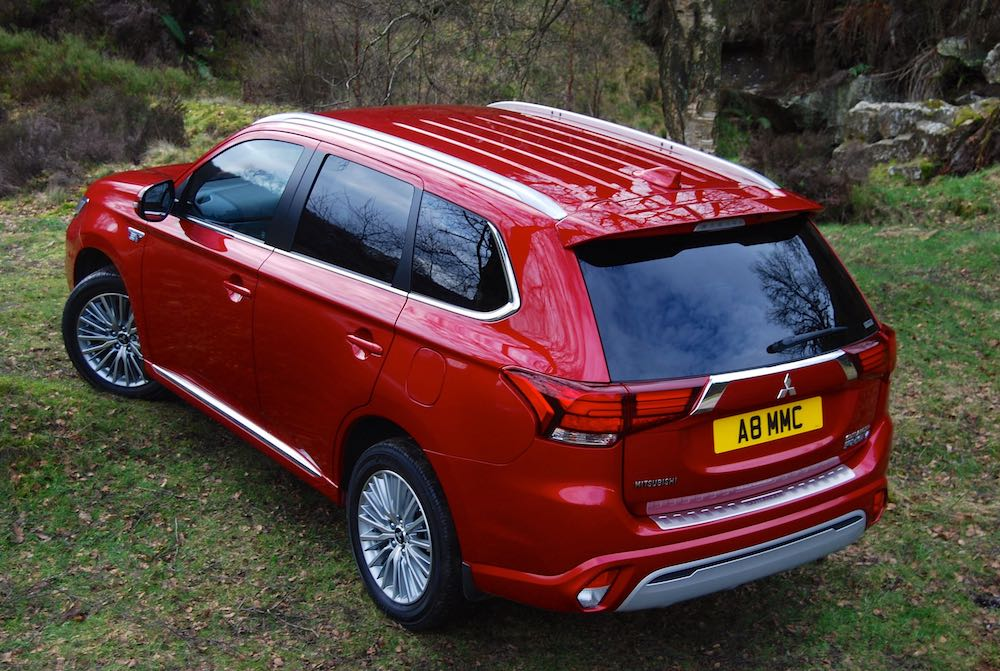 2019 mitsubishi outlander phev red rear side off road review roadtest