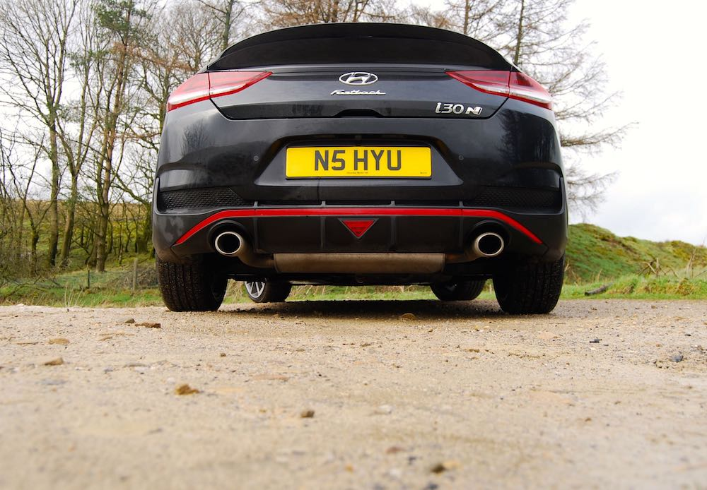 hyundai i30 fastback n black rear review roadtest