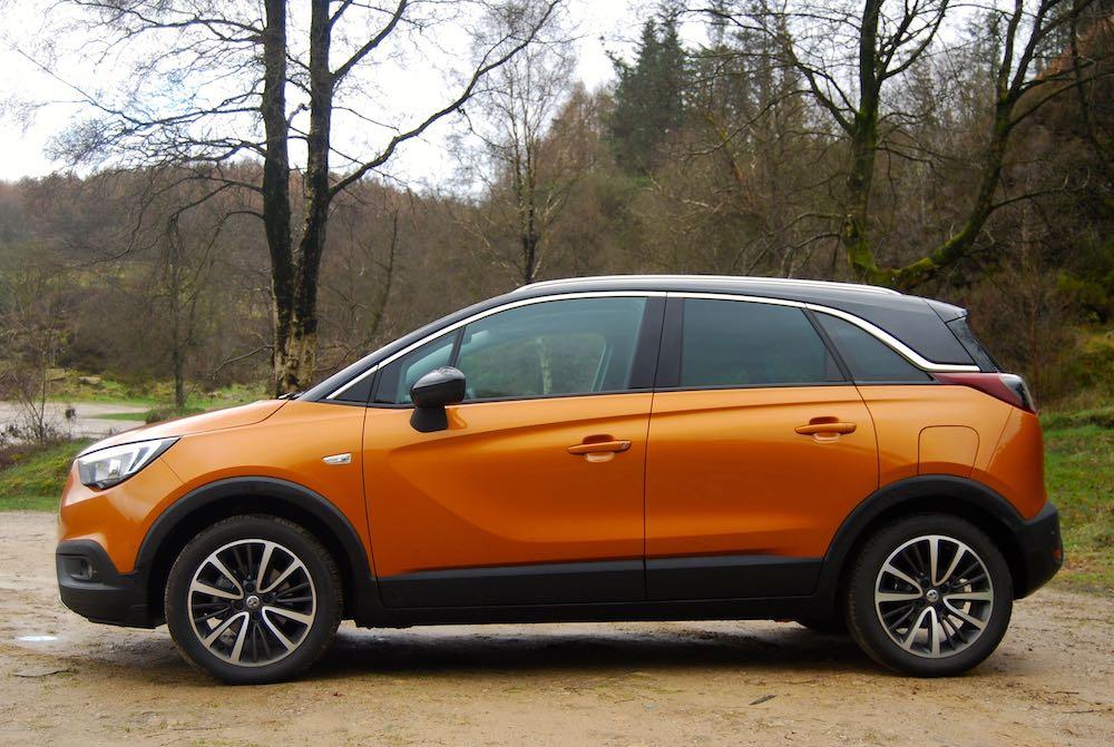 vauxhall crossland x orange side review roadtest