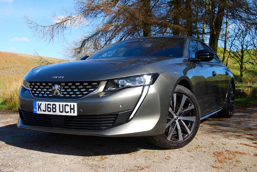 peugeot 508 green grey front side review roadtest