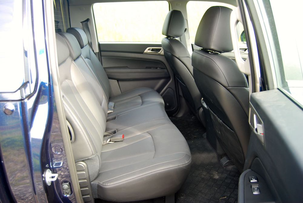 2019 SsangYong Musso Rear Seats Review Roadtest