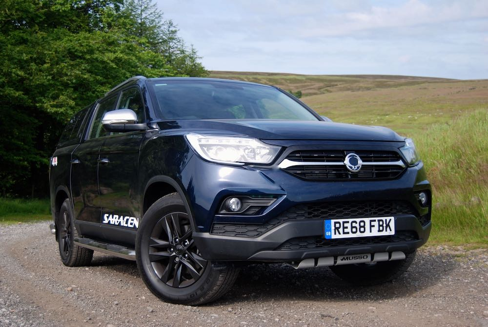 2019 SsangYong Musso Saracen Blue front side review roadtest