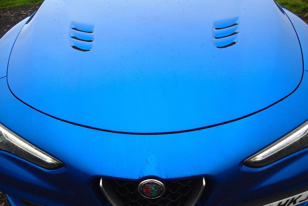 2019 alfa romeo stelvio quadrifoglio blue bonnet review roadtest