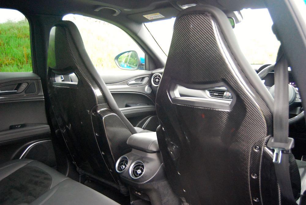 2019 alfa romeo stelvio quadrifoglio sparco carbon seats review roadtest
