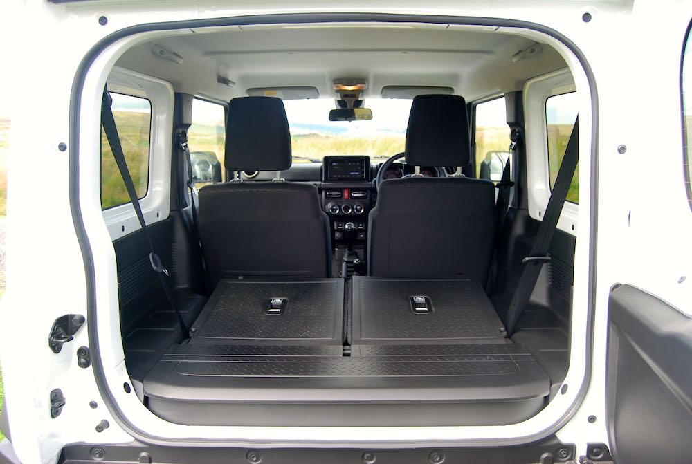 2019 suzuki jimny rear seats down review roadtest