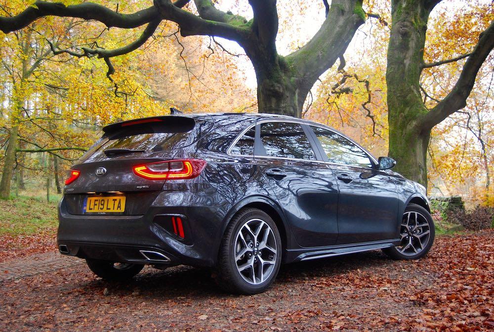 2019 kia ceed gt line grey rear side review roadtest