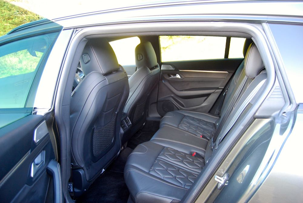 2019 peugeot 508 sw gt rear seats leather review roadtest