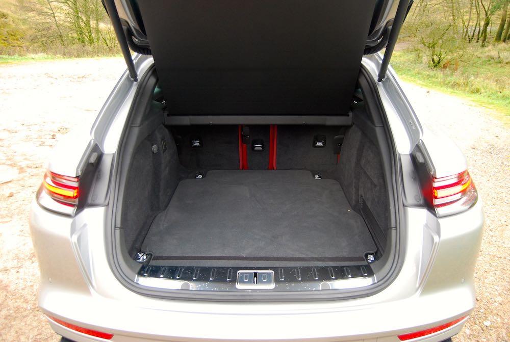porsche panamera turbo s e-hybrid sport turismo boot review