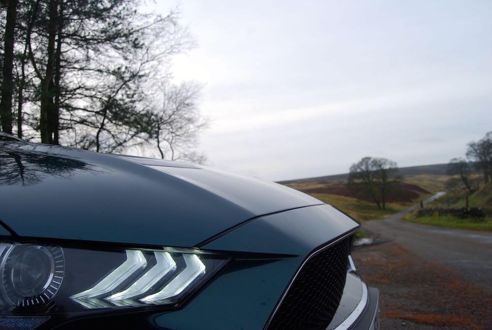 2020 ford mustang bullitt green nose headlight review roadtest