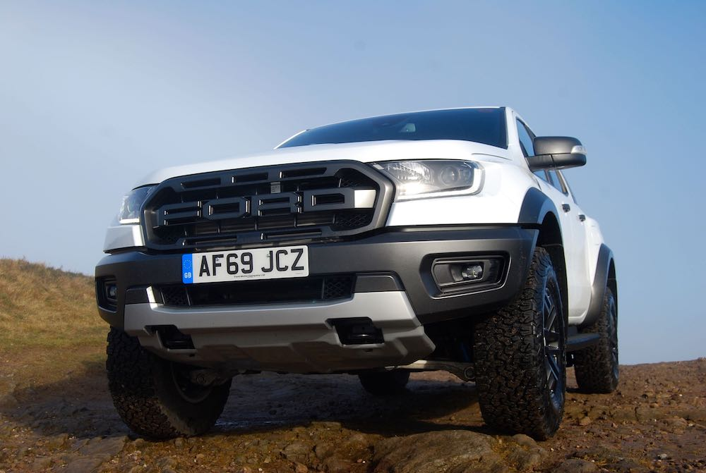 2020 ford ranger raptor front white review roadtest