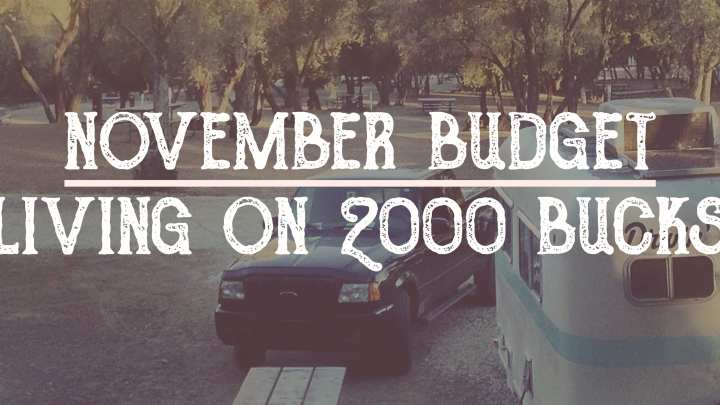 Living on $2000 a Month: Our November Budget Results